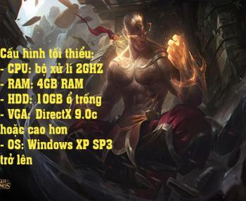 Configurare pentru a juca jocul League of Legends fără probleme