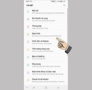 Vollbild-App-Modus auf dem Samsung Galaxy Note 8