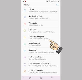 Wischen Sie auf dem Samsung Galaxy Note 8 über einen Anruf oder einen Text