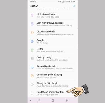Disattiva il telefono demo Samsung Galaxy Note 8