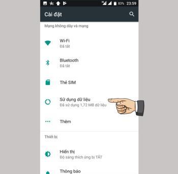 Mobiistar Zumbo S2 Dualde veri kullanımını sınırlayın
