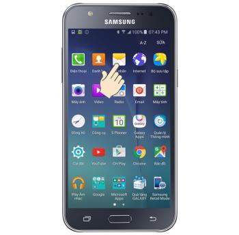 Samsung Galaxy J7 message font size setting