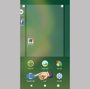 Ändern Sie den Seitenübergangseffekt auf dem Sony Xperia XA1 Plus