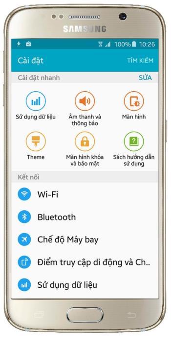 رابط کاربری غنی با فروشگاه تم در Samsung Galaxy S6