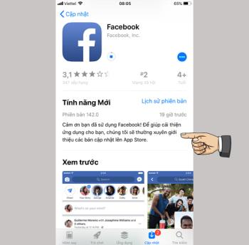 Facebook updates new patches on iOS