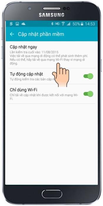 Mise à jour des appareils sur Samsung Galaxy A8