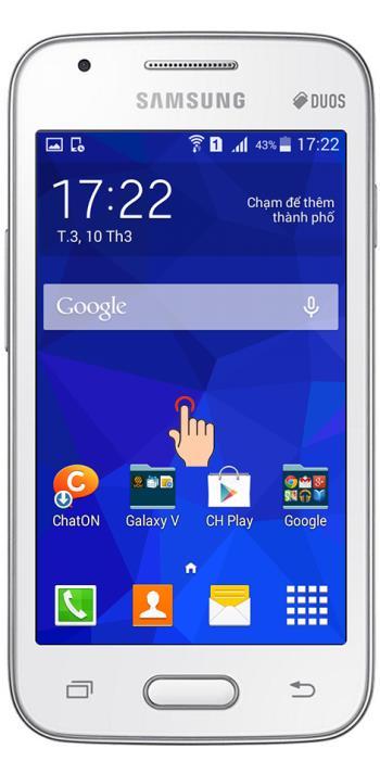 Samsung Galaxy의 홈 화면에 위젯 가져오기