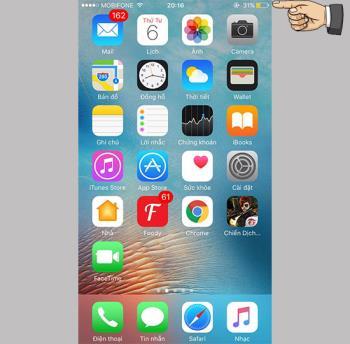 Apague el icono amarillo de la batería en el iPhone