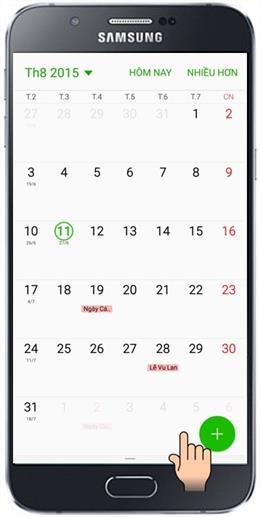 ميزة S Planner في Samsung Galaxy A8