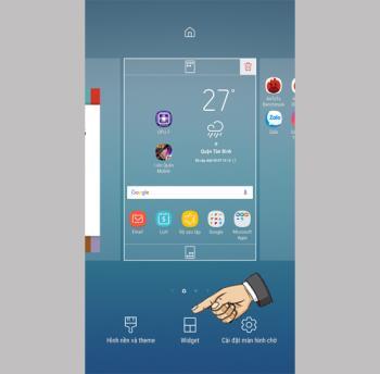 Add Widgets on Samsung Galaxy J7 Pro