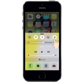 Auto rotate screen function on iPhone 5S