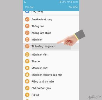 Capture décran intelligente sur Samsung Galaxy A9 Pro