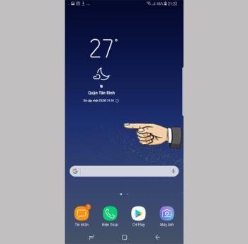 Добавить виджеты на экран на Samsung Galaxy S8