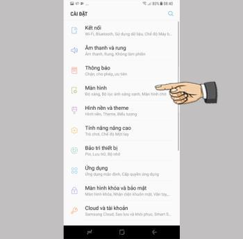 إعدادات عرض شريط الحالة في Samsung Galaxy S8 Plus