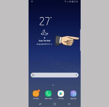 Using edge screen on Samsung Galaxy S8 Plus
