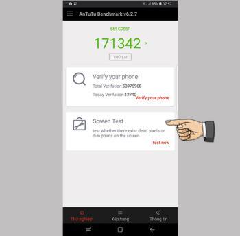 عدد نقاط اللمس في Samsung Galaxy S8 Plus