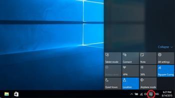 如何在 Windows 10 中設置操作中心