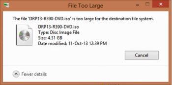 Beheben Sie den Fehler, dass große Dateien von 4G nicht auf USB/Festplatte kopiert werden können