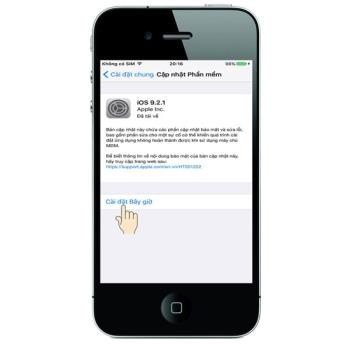 Update (update) new software on iPhone 4S