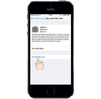 Update (update) new software on iPhone 5S