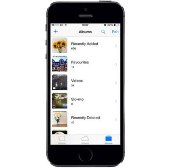 Use smart albums on the iPhone 5S