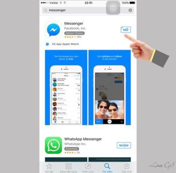 Panggilan video dari Facebook Messenger di platform iOS