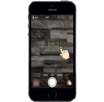 Brighten and darken when taking photos on iPhone 5S