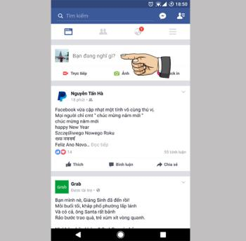 Cara mengepos dengan latar belakang berwarna-warni di Facebook Android