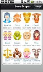 Love horoscopes for Android