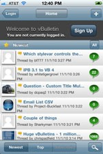 vBulletin Mobile for iPhone