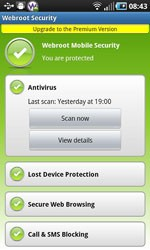 Webroot Mobile Security Basic