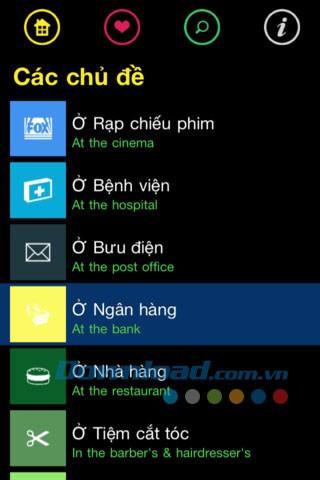 Manuals English-Vietnamese dialogue for iOS