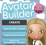 Avatar Builder Girls Edition For Blackberry