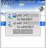 Black & Whitelist for BlackBerry iBerry