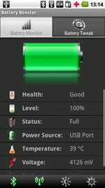 Battery Booster Free for BlackBerry