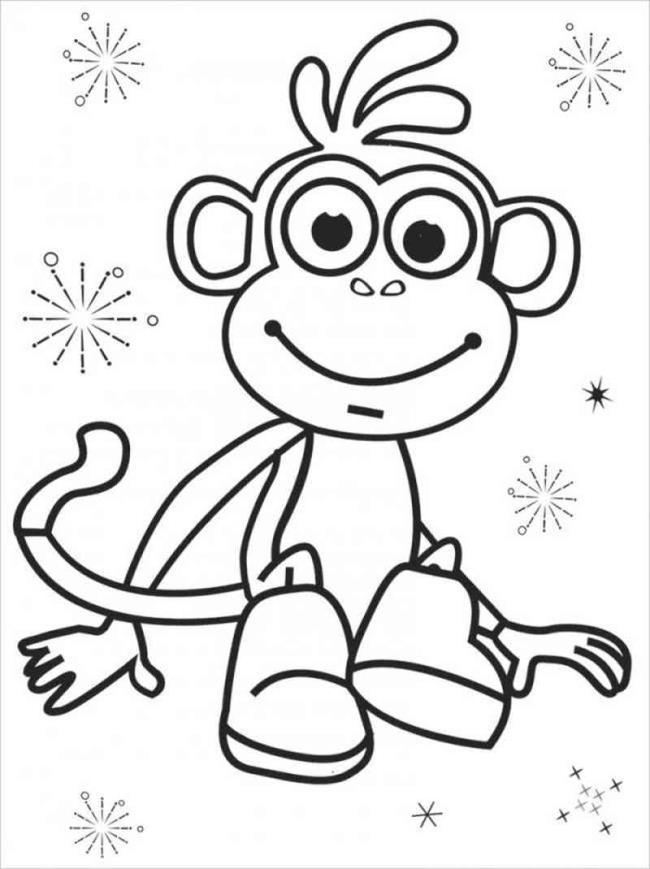 مجموعة من أجمل صور تلوين القرد