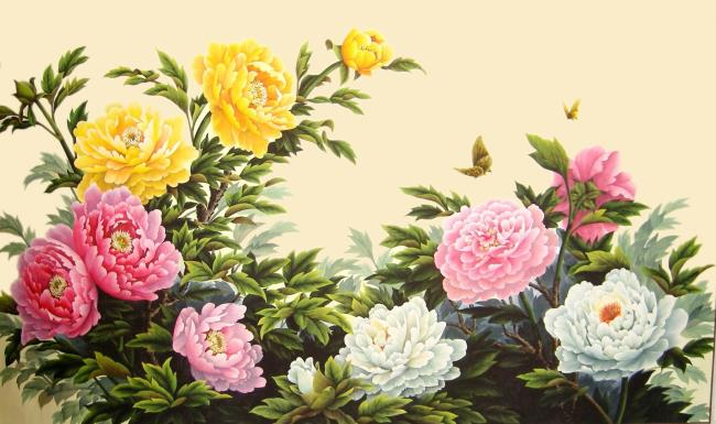 Feng Shui Pfingstrose Bild schön