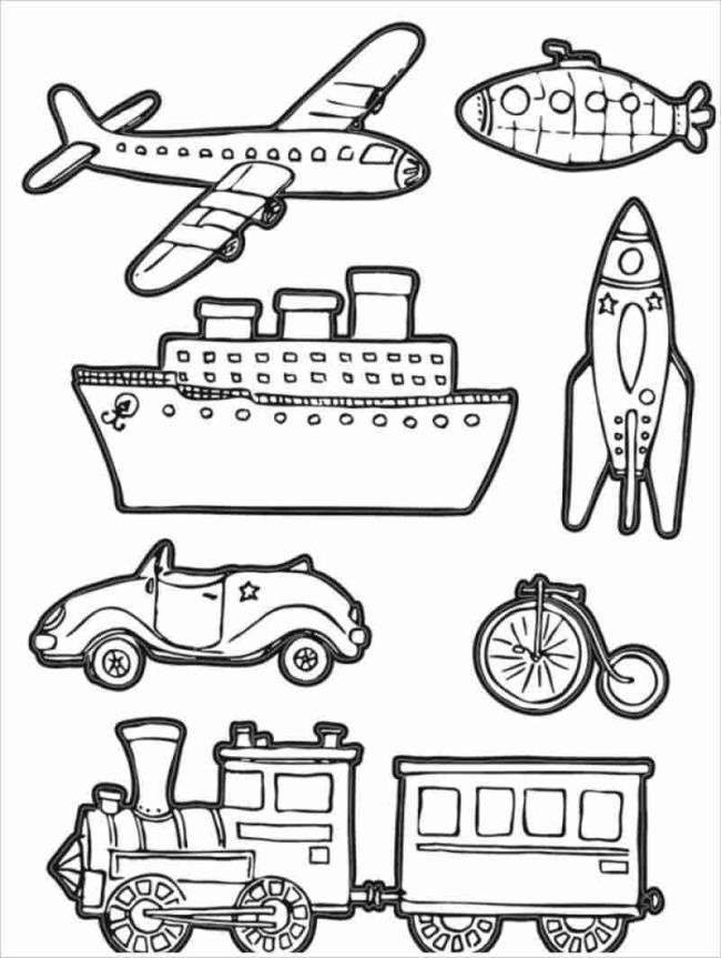 Overzicht van prachtige kleurplaten van transport