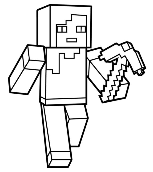 Collection of the best Minecraft coloring pictures for kids