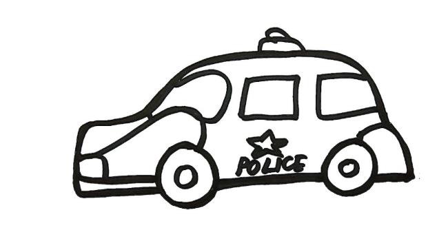 Sammlung von schönen Polizeiauto Malvorlagen
