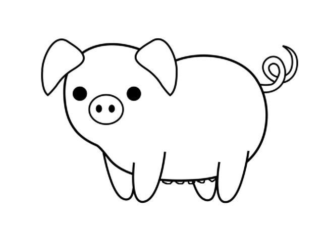 Collection des plus belles images à colorier de porc