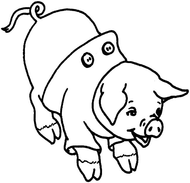 Colecție de cele mai frumoase imagini de colorat porci
