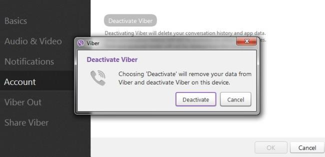 Log out of the Viber application on Windows 3