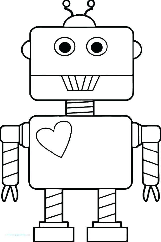 लड़कों के लिए रोबोट रंग चित्रों का संग्रह