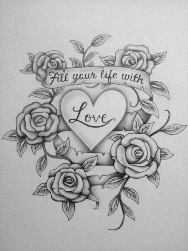 Gambaran Bunga Mawar Dari Pensil Jenisbunga Com
