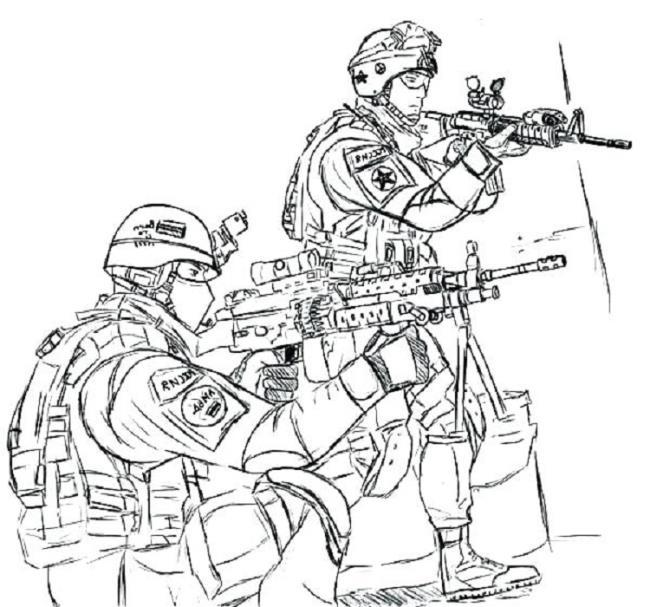 Ringkasan gambar mewarnai tentara paling indah