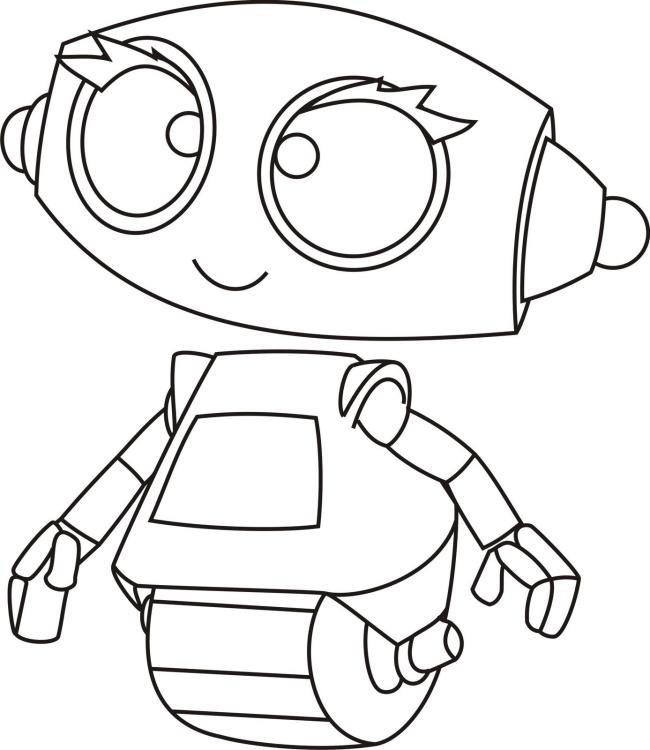 مجموعة من صور تلوين الروبوت للأولاد