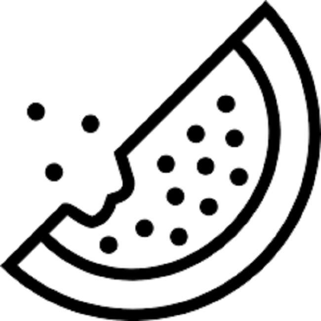 مجموعة من صور تلوين البطيخ للأطفال لممارسة التلوين