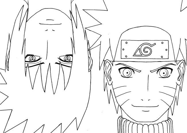 Sammlung der schönsten Naruto Malvorlagen