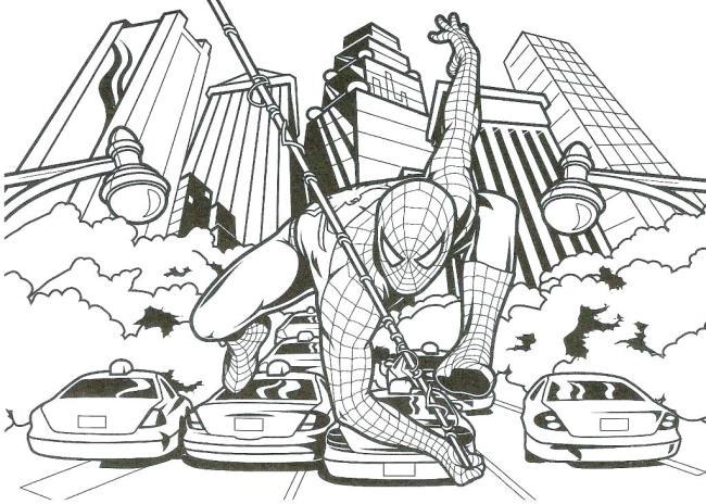 خلاصه تصویر زیبا که اسپایدرمن نقاشی شده است